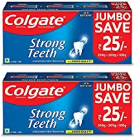 Colgate Cavity Protection Strong Teeth Toothpaste with Amino Shakti - 1000gm (500gX2) Saver Pack , India's No.1 Toothpaste