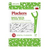 Plackers Back Teeth Micro Mint Dental Floss Picks, 75 Count