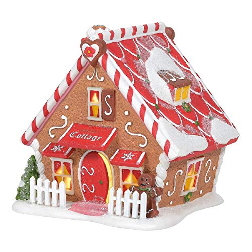 Department 56 North Pole Series Ginger's Cottage Lighted Building, 5.12 in H 56 North Pole Series