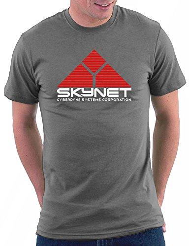 Million Nation Terminator Skynet T-Shirt, Größe XL, Darkgrey