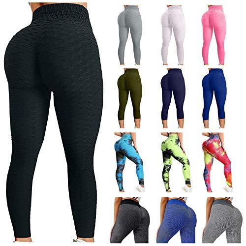 WHSHINE Leggings for Women Butt Lift,Hight Waisted Workout Peach Lift Leggings,Anti Cellulite Yoga Booty Pants