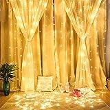 妖精ウィンドウカーテンライト、304個のLEDガゼボ、結婚式の背景、ベッドルームインテリア、8モードのための屋内屋外のストリングライト warm white
