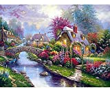 Diamond Painting Kits for Adults Kids 5D DIY Full Drill Crystal Rhinestone Embroidery Cross Stitch Arts Craft Canvas (Landscape)