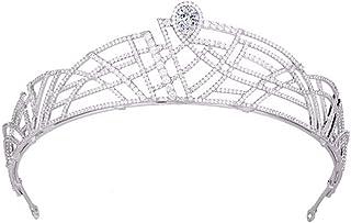 RENSLAT Donne Elegante Festa Principessa Corona Signore Delicato Brillante Strass Accessori per Capelli Wedding Beauty Cop...