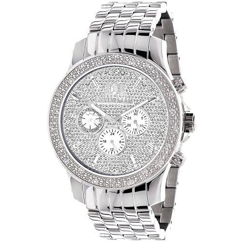 LUXURMAN Mens Real Diamond Watch 0.25ct