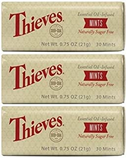 Young Living Essential Oils, Thieves Mints 30 Ct 5140, 3 Pack