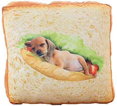 Weiche Plüsch-Toast-Brot-Scheibe Autositzkissen Auto-Kissenlumbalstütze ist am besten zum Geburtstag, 4040cm + 100150cm (Farbe: Kreis, Größe: 40 * 40 cm + 100 * 150 cm) ( Color : Puppy , Size : 40cm )