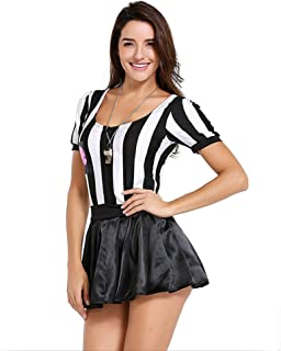 76814068cbe QZ Árbitro Disfraz de Halloween para Mujer Sexy Deportivo Ref Ump Falda  Outfit