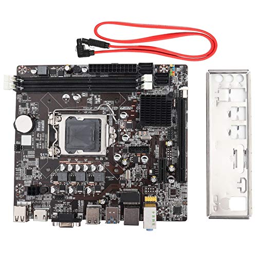Kafuty Desktop-Computer-Motherboard, LGA 1155 USB3.0 SATA 1066/1333/1600/1866 Mainboard für Intel B75, unterstützt SSD Solid State Drive-Hochgeschwindigkeitsübertragung