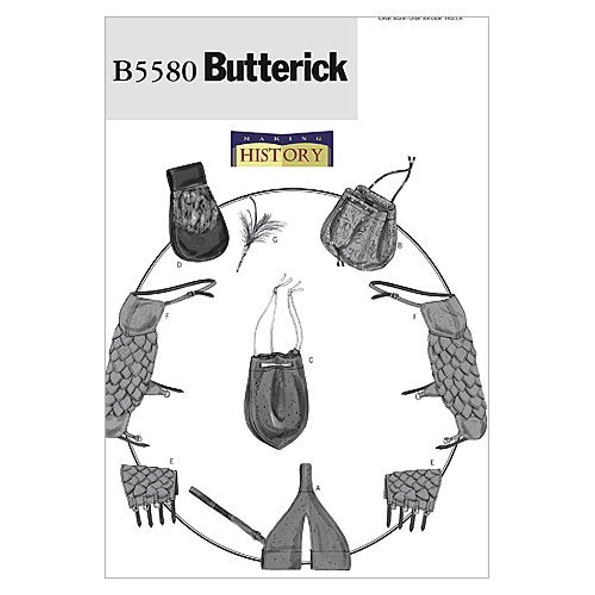 BUTTERICK PATTERNS B5580 Sword Holder, Bags, Pouch, Bracers, Shoulder Covers and Feather Pin, One Size Only orkaxleuor70