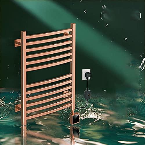 HAITOY Termostatico portasciugamani da Bagno scaldavivande radiatore Moderno Riscaldamento Elettrico in Acciaio Inox 304 Asta Appendiabiti Intelligente-Bianco_550X438X95mm/21,6X17,2X3,7,5 Pollici