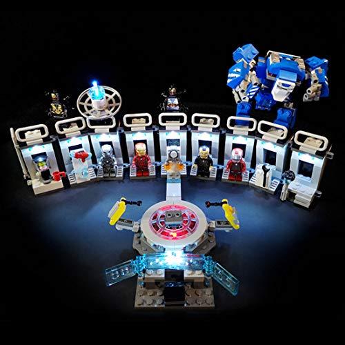 POXL Licht Set Für Marvel Super Heroes Iron Mans Werkstatt - LED Licht Set Led Beleuchtung Kompatibel Mit Lego 76125 (Lego Modell Nicht Enthalten)