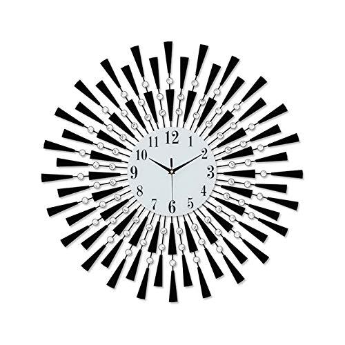 JIEJIELL Atomic Digital Wall Clock,Perfect Educational Tool Decor Clock,Analog Alarm Clock for Home School Classroom Teachers Parents-K 60x60cm(23.6x23.6inches)