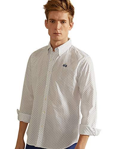 La Martina Man Shirt L/S Printed Popeline Camisa Casual para Hombre