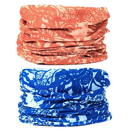 EAZZEA 6pcs Magic Wide Tube Face Mask,Neck Gaiter, Headwear, Sports Scarf, Boho Bandana, Balaclava, Headband for Women and Men