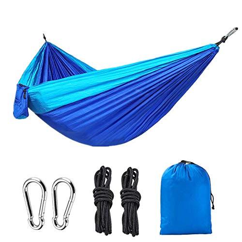 ADUGEN Hamaca al Aire Libre jardín Hamaca Camping Ultraligero Hamaca oscilante reclinable de Aire fácil Almacenamiento Hamaca portátil,Azul