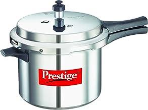 وعاء الطهي بالضغط بوبيولار من بريستيج مصنوع من الالومنيوم، لون فضي 5 لتر Pee_10013_Sir
