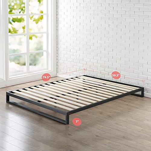 Zinus Trisha 7 Inch Heavy Duty Low Profile Platforma Bed Frame / Mattress Foundation / Box Spring Optional / Wood Slat Support, Queen