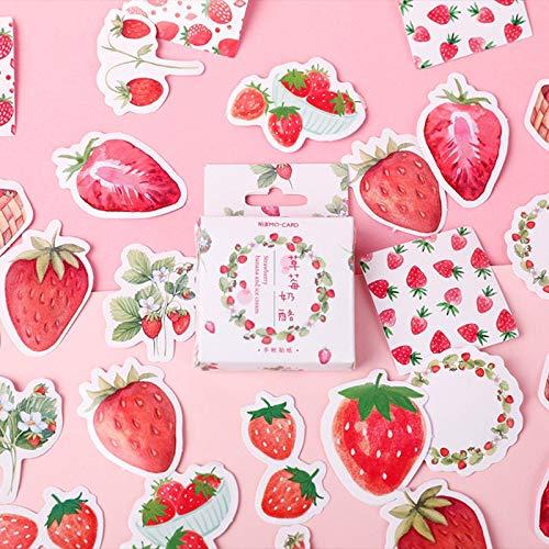 XXCKA Strawberry Cheese Bullet Journal Dekorative Schreibwaren Sticker Scrapbooking DIY Diary Album Stick Lable