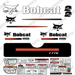 Bobcat T-770 Compact Track Loader Skid Steer Decal Kit (Straight Stripes)