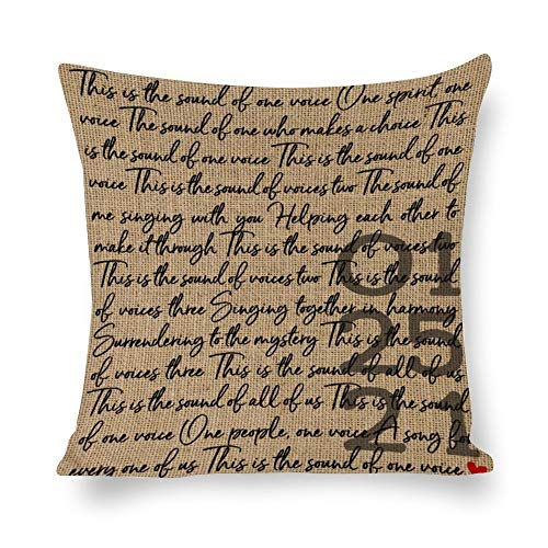 BYRON HOYLE Wedding Cushion Cover,Song Lyrics Pillow cases,Cotton Linen Pillow Covers for Bedroom and Couch,Square Decorative Throw Pillow Cover,Home Decor,Housewarming Gift