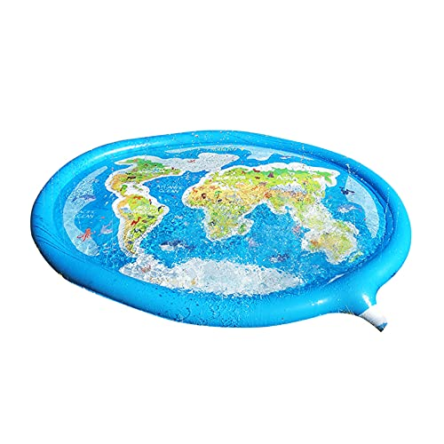 ABCSS Splash Play Mat,Tapete de Aprendizaje para Salpicar con Rociadores para Actividades al Aire Libre,Juguetes Inflables de Agua para Bebés,Niños Pequeños y Niños (180 * 150cm/71 * 59in)