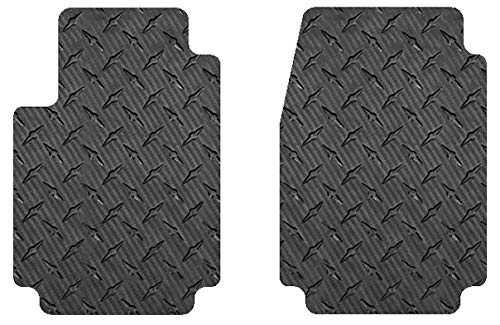 Intro-Tech RR-138F-CF Front Row 2 pc. Custom Fit Auto Floor Mats for Select Bentley Continental GT/GTC Models - Simulated Carbon Fiber