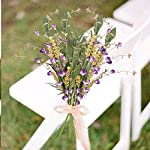 ho2nle 4pcs artificial flowers bundles outdoor artificial greenery shrubs plastic fake flowers bouquet for outdoor spring porch balcony window home kitchen patio farmhouse garden decoration