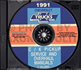 1991 CHEVROLET TRUCK & PICKUP FACTORY REPAIR SHOP & SERVICE MANUAL CD Includes C/K Truck, Silverado, Scottsdale, 454SS, Dually, Extended Cab, 1500, 2500, 3500 Gas & Diesel