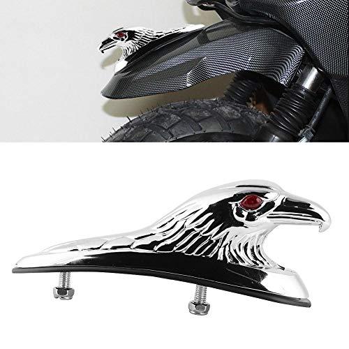 Fender Ornament, Vivid Eagle Chrome Gold Finish Parafango Ornament, per Scooter Motorcycle Battery Car Decor