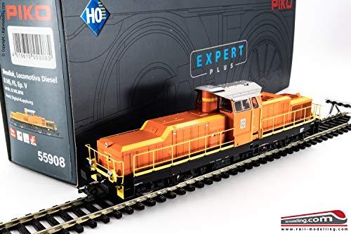 PIKO 55908 - H0 1:87 - Locomotiva diesel da manovra FS D 145 2016 dep. Catania DCC SOUND Ganci Digitali