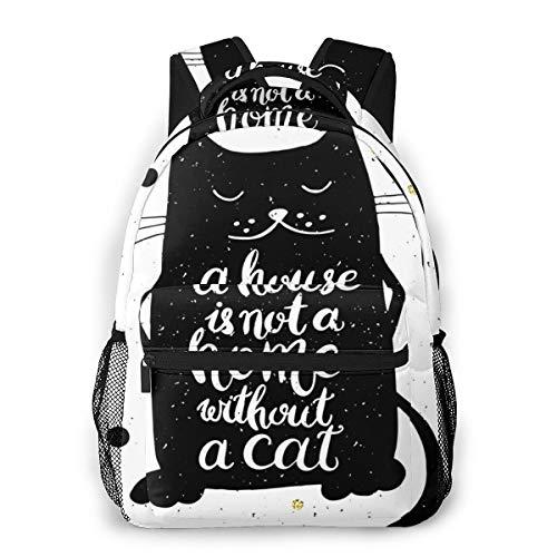Laptop Rucksack Schulrucksack Hundehütte ist Nicht, 14 Zoll Reise Daypack Wasserdicht für Arbeit Business Schule Männer Frauen