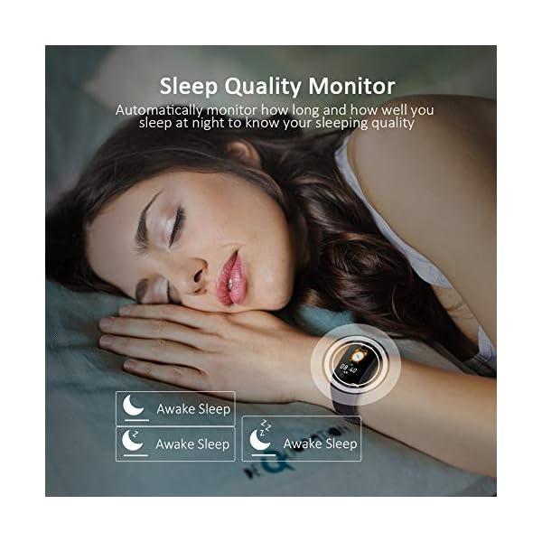 Byttron Fitness Tracker, Reloj Impermeable de Seguimiento de Actividad con Monitor de frecuencia cardíaca, Monitor de… 5