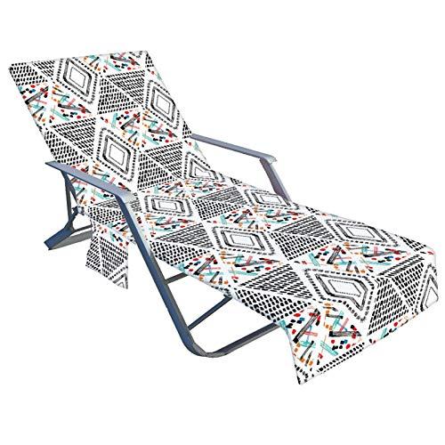 Su-xuri - Manta para silla de playa, sin deslizamiento, toalla de playa con 2 bolsillos laterales, multifuncional, toalla de playa, piscina apropiada, playa, jardín