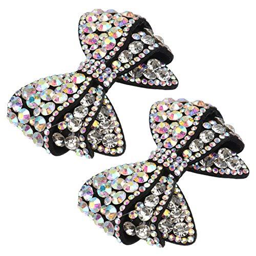 Happyyami Pedrería Arco Zapato Clip Mujeres Cristales Decorativos Zapato Hebilla DIY Artesanía...