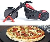 Tagliapizza per motociclista, coltello a rullo per pizza, ruota anteriore di motocicletta, taglia pizza, ruota di pizza, tagliapizza, pizza, tagliapizza nero