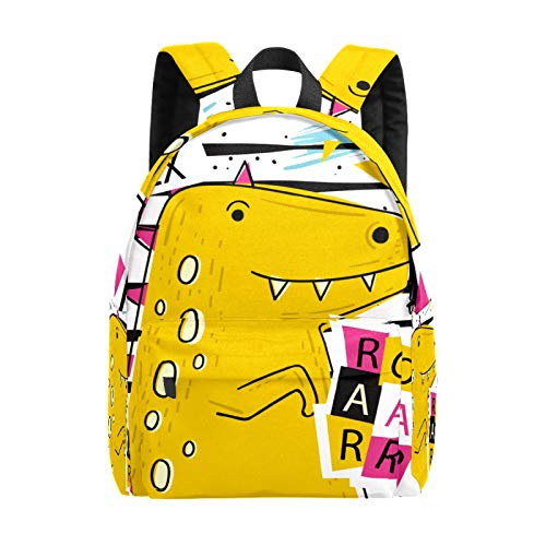 Kid's Backpacks Cute Cartoon Yellow Crocodile Rucksack Cute Student School Book Bags