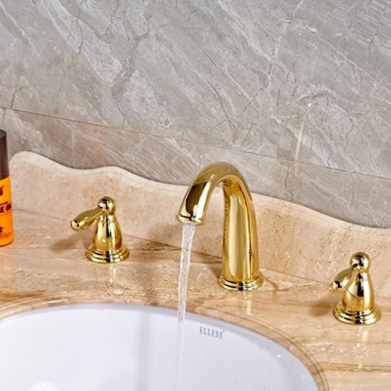 Maifeini Neu Auf Deck Installiert Polnischen Massiv Messing Badewanne Waschbecken Serie Mixer Kamen Drei Bohrungen Tippen, Lschen Sie Den Dual Griffe