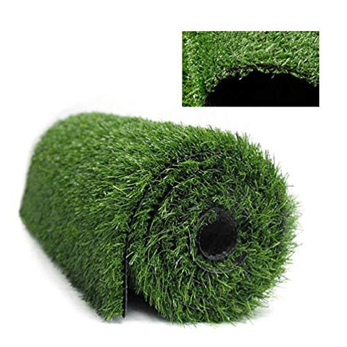 yasu7 1 Pcs 1.5cm Thickness Artificial Lawn Carpet, Fake Turf Grass Mat, Landscape Floor Decor Artificial Grass Lawn