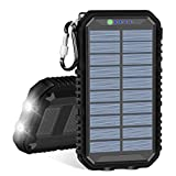 Solar Charger, IXNINE Portable Charger Power Bank 15000mAh with 2...