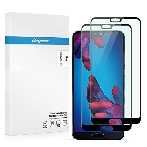 Beyeah [2 Stück Displayschutzfolie für Huawei P20 schutzfolie, Perfekt verbesserte Version, Full Glue Coverage, 9H Härte, (Schwarz)