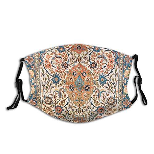 Isfahan Antigua Alfombra Persa Central Antigua Máscara Cara Lavable con Orejeras Ajustables...