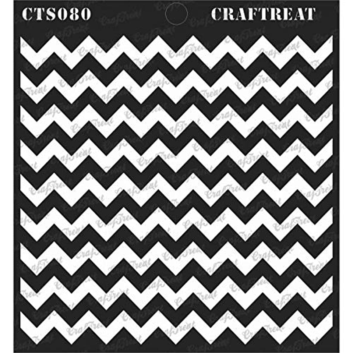 CrafTreat Stencil - Chevron | Reusable Painting Template for Journal, Notebook, Home Decor, Crafting, DIY Albums, Scrapbook and Printing on Paper, Floor, Wall, Tile, Fabric, Wood 6