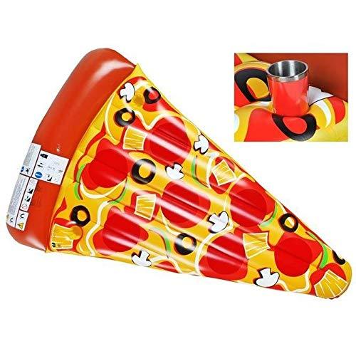 Ducomi Inflables para playa y piscina para adultos y niños, colchoneta de playa, gran donut hinchable, rueda neumática, unicornio, sandía, colchón hinchable (Pizza)