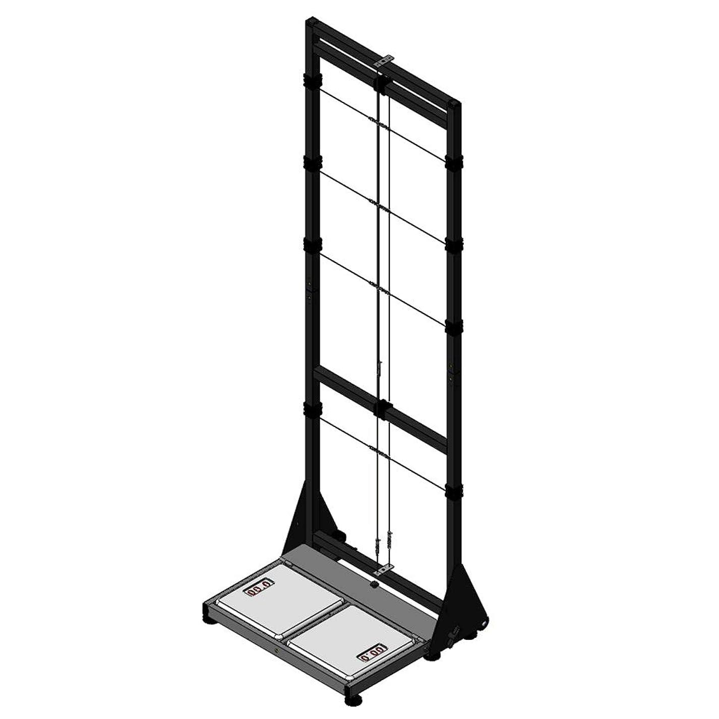 クリップ蝶建築家混合したエサキオリジナル 姿勢分析器 (体重計式) 下肢の体重バランスを計測可能