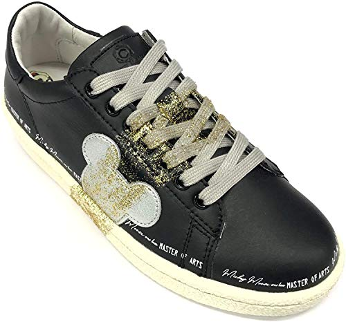Master of Arts Original Disney Art. MD355 Sneaker aus Leder, bequem, Schwarz - Schwarz - Größe: 37 EU