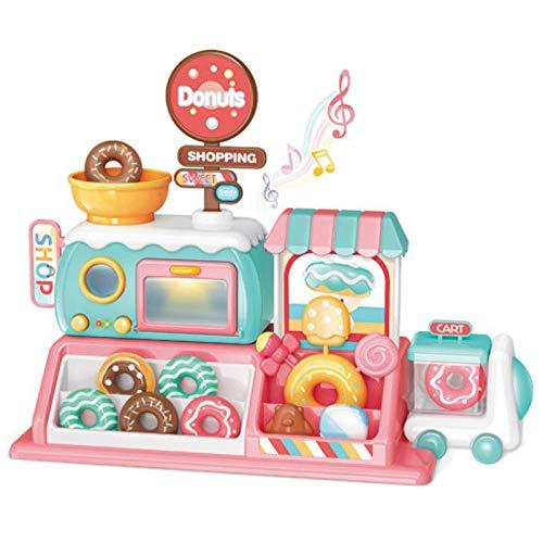 YAMMY Kochen Spielzeug Kit, Multi-Funktions-Simulation Supermarkt Elektro-Backofen Donuts Küche Musik Kinderspielzeug