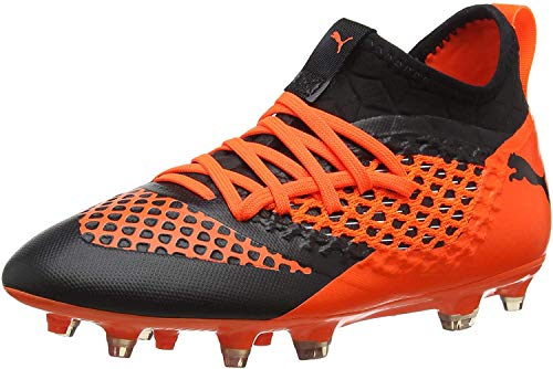 Puma Unisex-Kinder Future 2.3 Netfit FG/AG Jr Fußballschuhe, Schwarz Black-Shocking Orange 02, 33 EU