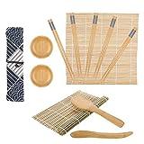 SUSSURRO - Set de sushi de bambú para principiantes, 12 piezas