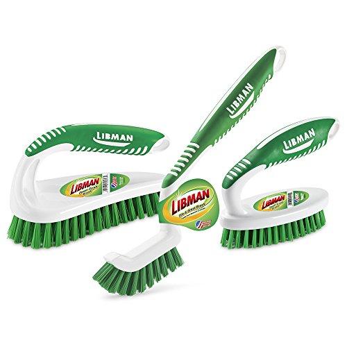 Libman Scrub Brush Kit, Green White - 1207